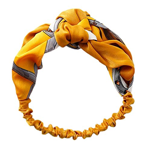 BIGBOBA Giallo Modern Style Vintage Turbante Fasce Accessori per Capelli per Donne E Ragazze
