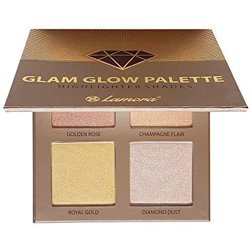 Palette Illuminante Viso Make Up Polvere - Prime Glow Highlighter Makeup Bronzer Palette - 4 Colori Satinati Altamente Pigmentati Con Specchio - Vegano, Non Testato Sugli Animali