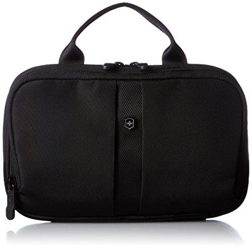Victorinox Accessori da viaggio Slimline Toiletry Kit - Beauty Case con gancio - Donne e Uomini - 4x23x13cm - Nero