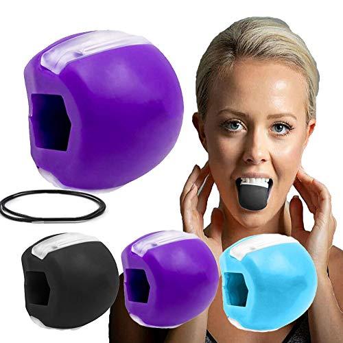Jaw Exerciser Jaw Trainer Tonico per Il Viso Ginnico per Mascelle e Attrezzatura Tonificazione del Collo Attrezzatura Strumento per la Bellezza (Viola)