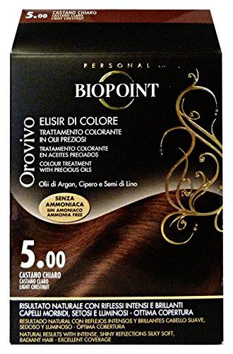 Biopoint Orovivo Tinta per Capelli (Tono Castano chiaro 5.0) - 60 ml.