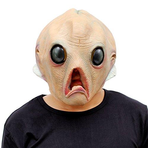 CreepyParty Festa in Costume di Halloween Maschera in Lattice a Testa Extraterrestre Alien Alieno