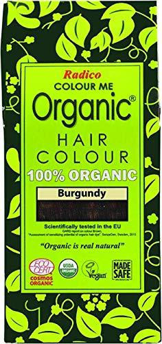 Radico Color Me Organic 100% Natural Herbs Long Lasting Burgundy Hair Color 100g / 3.53 Oz. by Radico