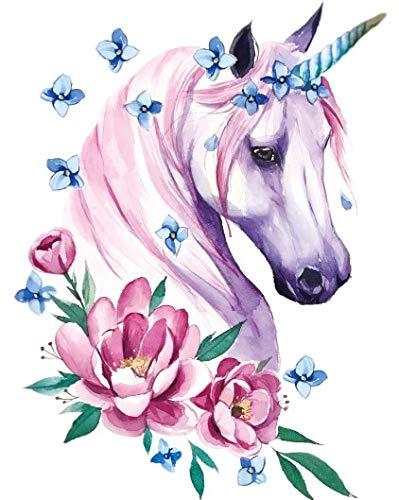 Tatuaggio per feste con unicorno e cavallo, LC593