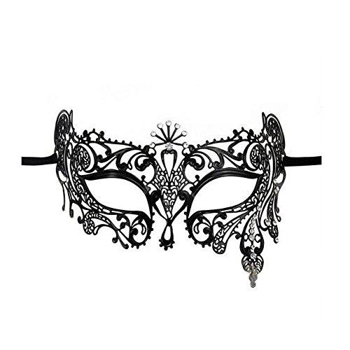 VABNEER Maschere Veneziane Donna Maschera Pizzo Veneziana con Strass Maschera Mascherina del Vestito Operato della Sfera di Promenade del Partito di Halloween del Carnevale di Halloween