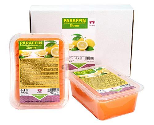 Kosmetex Bagno di paraffina, limone e limone, cera di paraffina, 2 x 500 ml