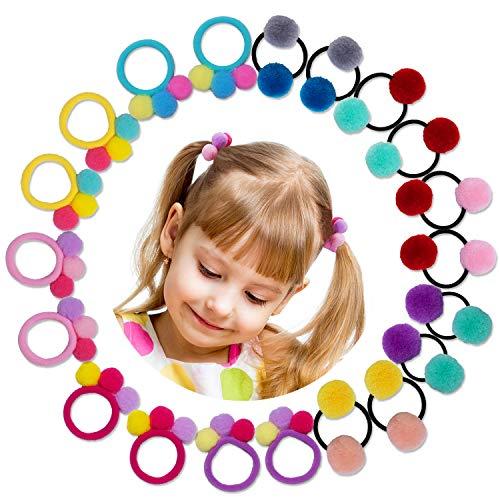 HBselect 10 paia Elastici per Capelli Bambina Accessori per Capelli Coda Capelli Neonata Molto Carina Mini Elastici Multicolori