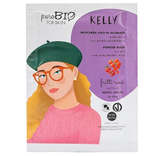 Purobio Kelly Maschera Viso Peel Off Per Pelli Secche, 07 Frutti Rossi - 10 Ml