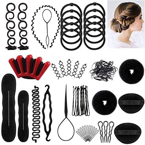 Ealicere Accessori Per Capelli,25 Tipi set di acconciature Hair Styling Tool, Mix Accessori Set Gioielli per Capelli Donne Ragazze per DIY