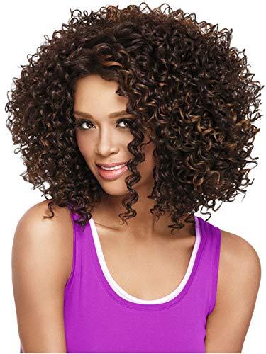 FZC-YM Parrucca Sintetica da Donna Parrucca afroamericana bionda riccia crespa Media Parrucca Naturale Parrucca per Costume