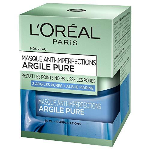 L'Oréal Paris - Maschera anti-imperfezioni, a base di alga marina, per pelli giovani con problemi, 50 ml