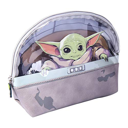 CERDÁ LIFE'S LITTLE MOMENTS Borsa da toilette Baby Yoda con fodera interna, licenza ufficiale Star Wars, multicolore, standard
