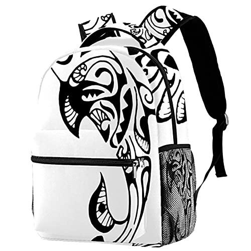 Zaini da viaggio per il tempo libero Campus, borse per animali con tatuaggio delfino con portabottiglie per ragazze ragazzi