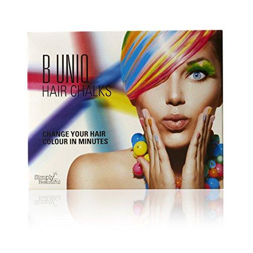B Uniq, set di tinte per capelli temporanee, atossiche, perfette per Halloween, feste in maschera, costumi di scena: Crea un look funky per bambini e ragazzi, confezione da 24