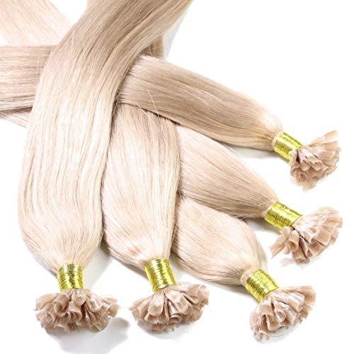 Hair2Heart 50 x 0,5g Extension Capelli Veri Cheratina - 30cm, colore #20 Di Cenere, liscio