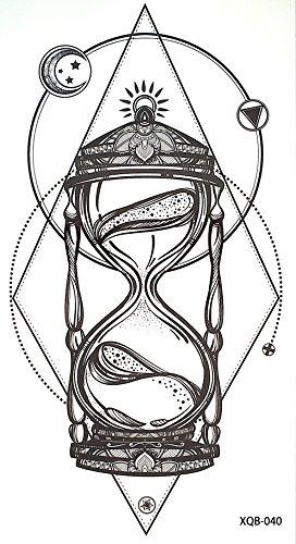 Linen Tattoo XQ040 - Tatuaggio grafico con clessidra nero