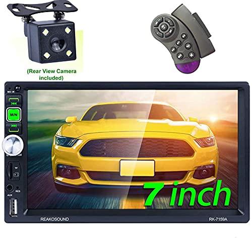 Honboom Autoradio Bluetooth 2 DIN Car Stereo con 7 Pollici HD Touchscreen Supporto Chiamata Vivavoce Bluetooth/FM/USB/TF Card/AUX (Telecamera Posteriore Inclusa)