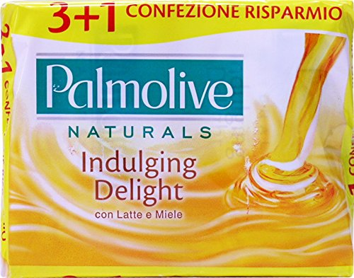 PALMOLIVE Saponetta Indulging Delight Latte&Miele 4 Pezzi 360 GR