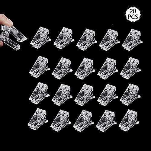 Feliciay - 20 clip per unghie in gel per costruzione rapida, per unghie riutilizzabili, per unghie e nail art, strumenti fai da te