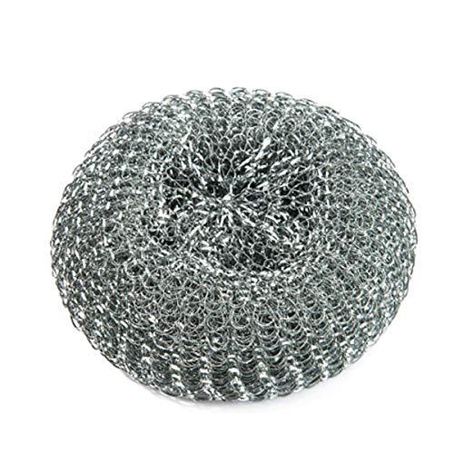 Spugna in lana d'acciaio resistente, 40g, confezione da 10 pezzi, qualità commerciale
