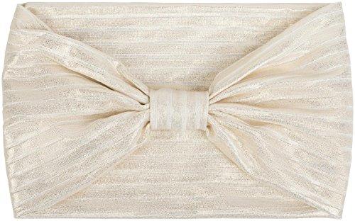 styleBREAKER fascia con nodo, a righe metallizzate, fascia per capelli, fascia, da donna 04026017, colore:Bianco/oro