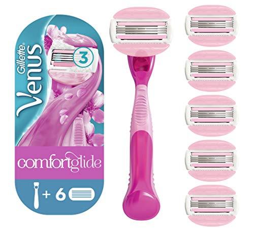 Gillette Venus Spa Breeze 2 In 1 Rasoio Donna + 6 Lamette di Ricambio con Barre di Gel per Depilazione, Confezione Speciale