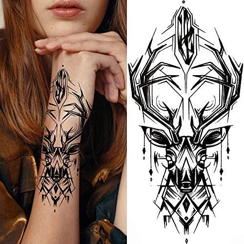 YINSHENG Tatuaggio Nero Tatuaggio Impermeabile per Uomo Donna Protezione Impermeabile autoadesiva Pellicola per Tatuaggio Traspirante peonia Sexy Giglio di Loto Margherita Tatuaggio per Donne ra
