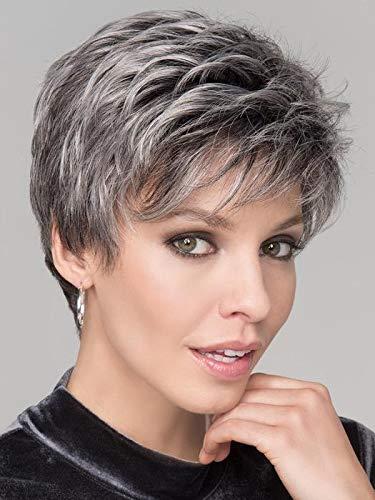 HAIRCUBE Parrucca naturale parrucca naturale parrucche per capelli per le donne Omber parrucche parrucche Grigio a bianco Uso quotidiano