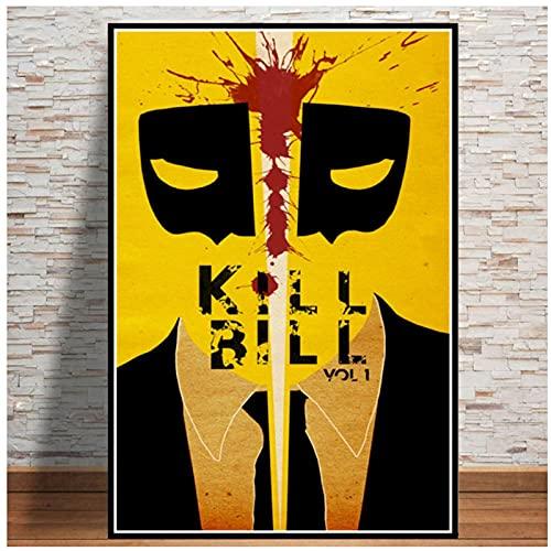 Chifang Poster e Stampe Hot Kill Bill Film Film Pittura Vintage Arte Immagini a Parete per Soggiorno Collezione per la casa Decor-60x90 cm x1 Senza Cornice