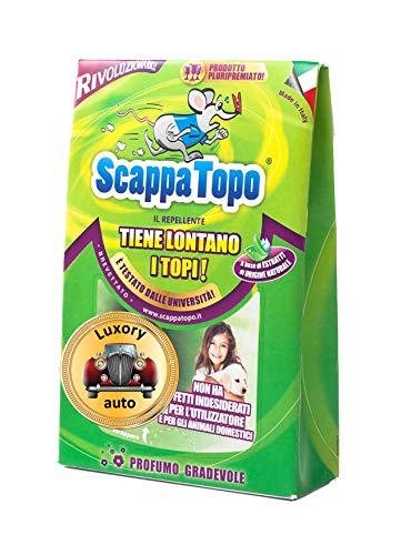 ScappaTopo Luxory Auto Repellente Naturale - Protegge la Tua Auto dai Topi Senza veleni – Unico! 4 Pezzi.Registrato aTransparency di Amazon, Che ne certifica l'autenticità per Proteggere i Clienti.