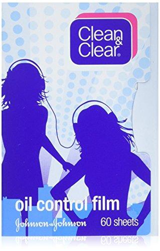 Clean & Clear Pellicola Di Controllo Olio Pulire & Chiaro Assorbimento Olio Fogli 60 Fogli (Confezione Da 3)