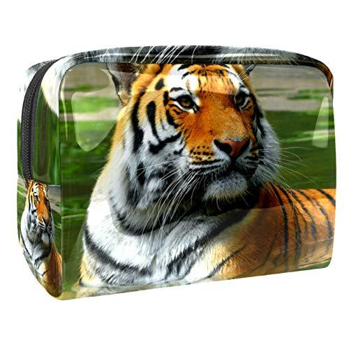 Beauty Case Tiger Underwater Borsa Cosmetica da Viaggio Borsa Trucco Organizzatore Beauty Astuccio per Donne ragazze 18.5x7.5x13cm