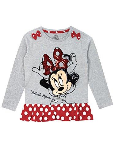 Disney Topolina - Maglietta a Maniche Lunga - Minnie Mouse - Ragazza - 4 a 5 Anni