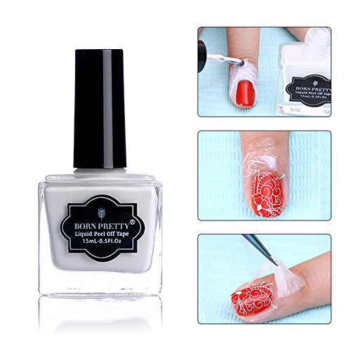Born Pretty 15ml White Peel Off Liquid Tape & Peel Off Base Coat Nail Art Liquid Latex