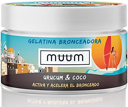 muum - Unguento Super Abbronzante Urucum e Cocco - Acceleratore dell'abbronzatura con antiossidanti naturali, idrata e previene le imperfezioni e le rughe - Abbronzatura in un tono dorato - 200 ml.