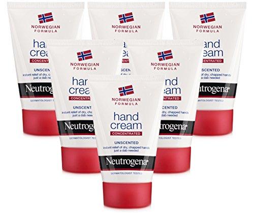 Neutrogena Crema per le mani, formula concentrata norvegese, 50 ml, senza profumo, 6 pezzi