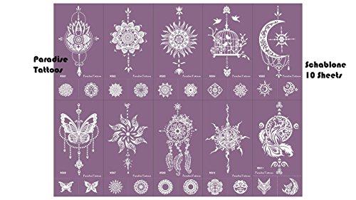 Acchiappasogni Mandala farfalla tatuaggio stencil in rete riutilizzabile set da 10 fogli viola