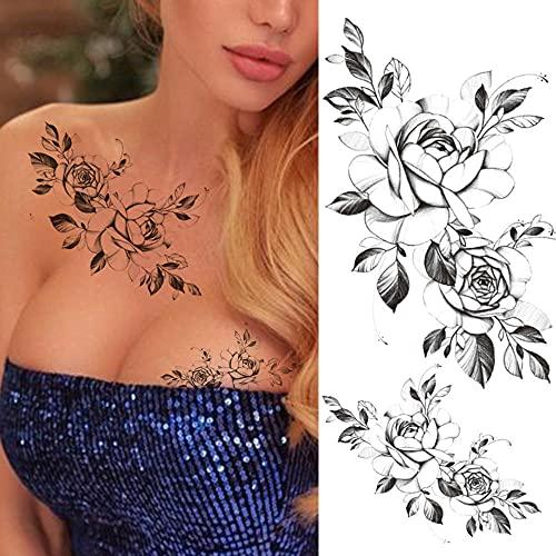 Tatuaggi Temporanei 3 Fogli Unica Lettera Inglese Tatuaggi Temporanei per Uomo Donna Bambini Versi Sanscrito ECG Tatuaggio Realistico Fai da Te Love Believe Falso Tatoo Picture 8