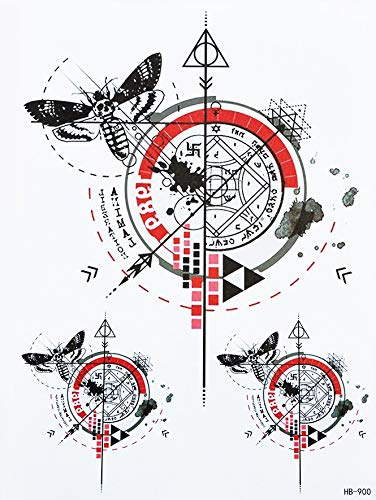 Bussola, tatuaggio geometrico con linee di tatuaggi hb900