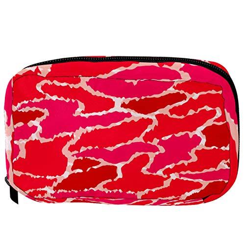 Sacchetti per cosmetici Camo rosa militare Handy Toiletry Travel Bag Oragniser Makeup Pouch per donne e ragazze