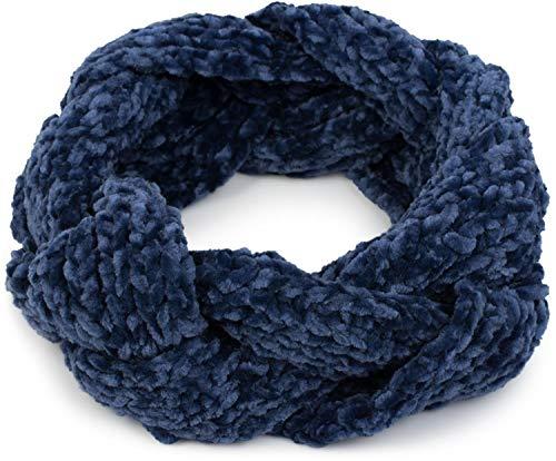 styleBREAKER Fascia per la Fronte da Donna Lavorata a Maglia in ciniglia Intrecciata, Fascia per Capelli, Fascia per la Testa 04026032, Colore:Blu
