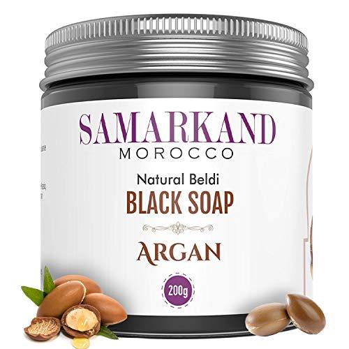 Sapone Nero Marocchino con Olio di Argan BIO 100% Puro Naturale Beldi per Hammam - Originale dal Marocco 200 g