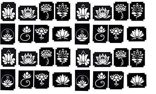 Stencil per tatuaggi all'henné (fiore di loto)