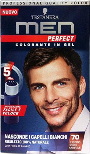 3 x MEN PERFECT Colorante Gel Castano Scuro 70