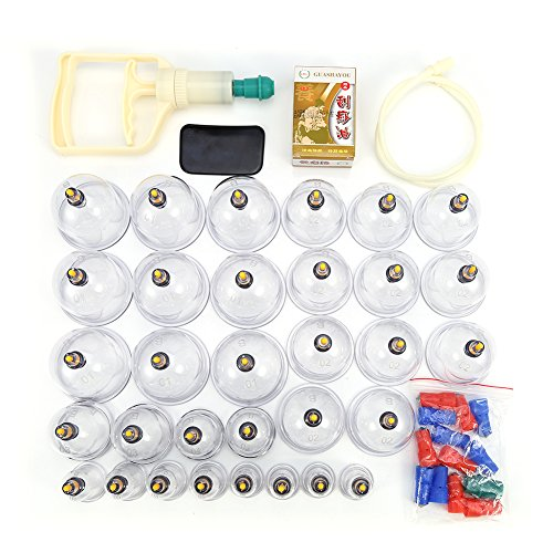 Set di massaggiatori per agopuntura con testina magnetica per ventose cinesi da 32 tazze