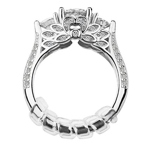 Regolatore di dimensioni dell'anello con stoffa per lucidatura di gioielli per anelli larghi, set di 12, 3 dimensioni: 2mm / 3mm / 4mm