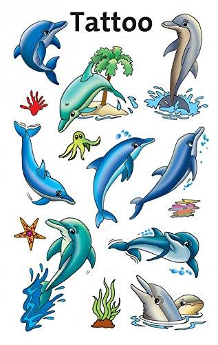 Tatuaggi temporanei per bambini Delfini 13 Designs Delfini