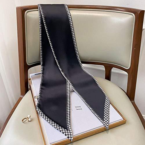 Tony plate Sciarpa da Donna Sciarpe per Capelli in Raso di Seta con Collo Sciarpe da Donna Fazzoletto da Donna Sciarpe da Donna Eleganti con Fascia per La Testa-4