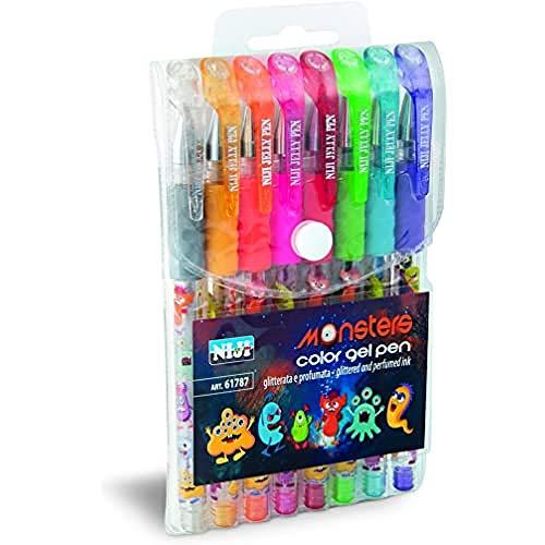 61787 Dream Pen Penne Gel Glitterate Profumate, Set 8 pezzi