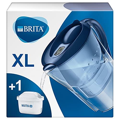 Brita Marella XL - Caraffa Filtrante per Acqua, 3.5 Litri, 1 Filtro Maxtra+ Incluso, Blu
